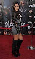 HOLLYWOOD, CA - APRIL 11: Francia Raisa attends the World premiere of 'Marvel's Avengers' at the El Capitan Theatre on April 11, 2012 in Hollywood, California.