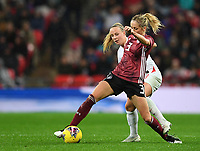 9th November 2019; Wembley Stadium, London, England; International Womens Football Friendly, England women versus Germany women; Kathrin Hendrich of Germany competes for the ball with Beth Mead of England - Editorial Use