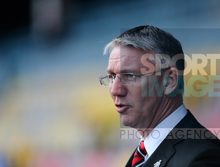 Sheffield United's Nigel Adkins looks on during the League One match at Roots Hall Stadium.  Photo credit should read: David Klein/Sportimage