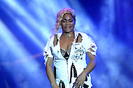 "Largo, MD - July 12, 2014: Tionne ""T-Boz"" Watkins, of the Grammy award winning group TLC, performs at the 1st annual International Festival at the Largo Town Center in Largo, MD, July 12, 2014. The group is known for its hit songs ""Creep"" and ""Scrubs."" (Photo by Don Baxter/Media Images International)"