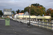 Weirs Beach on Lake Winnipesaukee in New Hampshire USA during the autumn months.