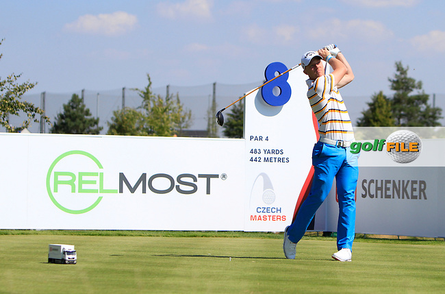 David Horsey (ENG) on the 8th tee during Round 2 of the D&amp;D Real Czech Masters 2016 at the Albatross Golf Club, Prague on Friday 19th August 2016.<br /> Picture:  Thos Caffrey / www.golffile.ie<br /> <br /> All photos usage must carry mandatory copyright credit   (&copy; Golffile | Thos Caffrey)
