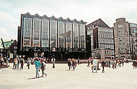 Bremen: Marktplatz--New Parliament Building by Wassili Luckhardt. Post-war International style. Photo '87.