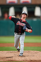 Great Lakes Loons pitcher Grant Holmes (44) delivers a pitch during a game against the Kane County Cougars on August 13, 2015 at Fifth Third Bank Ballpark in Geneva, Illinois.  Great Lakes defeated Kane County 7-3.  (Mike Janes/Four Seam Images)