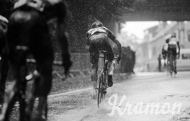 Martin Mortensen (DEN/One Pro Cycling) spraying some more water up in the air<br /> <br /> GP Jef Scherens - Leuven 2016
