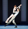 Bolshoi Ballet <br /> The Taming of the Shrew <br /> choreography by Jean-Christophe Maillot <br /> at The Royal Opera House, Covent Garden, London, Great Britain <br /> rehearsal of act 1<br /> 3rd August 2016 <br /> <br /> Ekaterina Krysanova as Katherina<br /> Vladislav Lantratov as Petruchio <br /> and company <br /> <br /> <br /> <br /> Photograph by Elliott Franks <br /> Image licensed to Elliott Franks Photography Services