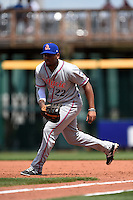 St. Lucie Mets first baseman Dominic Smith (22) during a game against the Bradenton Marauders on April 12, 2015 at McKechnie Field in Bradenton, Florida.  Bradenton defeated St. Lucie 7-5.  (Mike Janes/Four Seam Images)