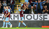 Burnley's Jack Cork celebrates scoring his side's second goal <br /> <br /> Photographer Alex Dodd/CameraSport<br /> <br /> UEFA Europa League - Europa League Qualifying Round 2 2nd Leg - Burnley v Aberdeen - Thursday 2nd August 2018 - Turf Moor - Burnley<br />  <br /> World Copyright © 2018 CameraSport. All rights reserved. 43 Linden Ave. Countesthorpe. Leicester. England. LE8 5PG - Tel: +44 (0) 116 277 4147 - admin@camerasport.com - www.camerasport.com