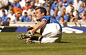 20/08/2005         Copyright Pic : James Stewart.File Name : jspa23 rangers v celtic.BARRY FERGUSON FEELS THE PAIN OF A BOBO BALDE CHALLENGE.....Payments to :.James Stewart Photo Agency 19 Carronlea Drive, Falkirk. FK2 8DN      Vat Reg No. 607 6932 25.Office     : +44 (0)1324 570906     .Mobile   : +44 (0)7721 416997.Fax         : +44 (0)1324 570906.E-mail  :  jim@jspa.co.uk.If you require further information then contact Jim Stewart on any of the numbers above.........