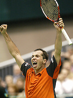 25-2-06, Netherlands, tennis, Rotterdam, ABNAMROWTT, Radek Stepanek celebrates his victory over Nikolay Davydenko