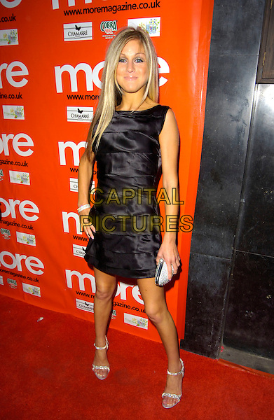 NIKKI GRAHAME.More! Magazine 500th Issue Party, Pangaea, Mayfair, London, England. .May 22nd, 2007.full length black dress layers hand on hip big brother Nicky Nicky Graham sleeveless .CAP/CAN.©Can Nguyen/Capital Pictures