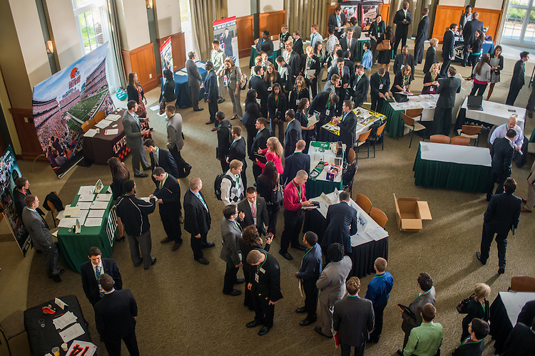 This years Sports Administration Career Fair was held in the Walter Hall Rotunda. Photo by Elizabeth Held