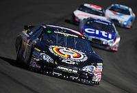Oct. 10, 2009; Fontana, CA, USA; NASCAR Nationwide Series driver David Gilliland during the Copart 300 at Auto Club Speedway. Mandatory Credit: Mark J. Rebilas-