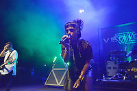 MIAMI BEACH, FL - NOVEMBER 13: Brandon Brown and Deena Jakoub of VERIDIA performs on stage at Fillmore Miami Beach on November 13, 2016 in Miami Beach, Florida. Credit: MPI10 / MediaPunch