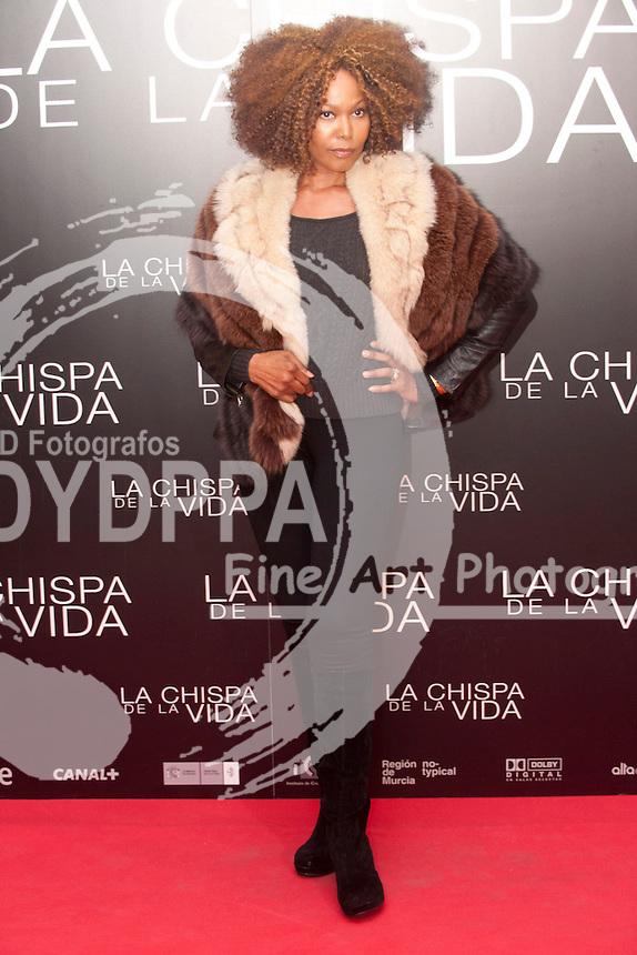"""12/01/2012. Callao Cinema. Madrid. Spain. """"La chispa de la vida"""" premiere. Lia Chapman"""