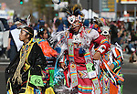 Native American dancers perform for the crowd during the annual Nevada Day parade in Carson City, Nev. on Saturday, Oct. 29, 2016. <br />Photo by Cathleen Allison