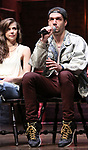 """Eliza Ohman and Ryan Vasquez from the 'Hamilton' cast during a Q & A before The Rockefeller Foundation and The Gilder Lehrman Institute of American History sponsored High School student #EduHam matinee performance of """"Hamilton"""" at the Richard Rodgers Theatre on June 6, 2018 in New York City."""
