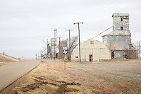 Grain elevators on Route 66 in Wildorado Texas are nearly all that remain.  When the Interstate was built through Wildorado, all the businesses along one side of the Route were completely destroyed to make way for the new super highway.
