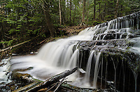One of the many cascades that make up beautiful Wagner Falls in Munising, MI.
