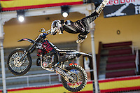Australian Fmx rider Tom Robinson during qualifying Red Bull X-Fighters 2016 at Madrid. 22,06,2016. (ALTERPHOTOS/Rodrigo Jimenez)