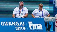18-07-2019: WK waterpolo: Italia v China: Gwangju<br /> Staff of Italia<br /> Gwangju South Korea 18/07/2019<br /> Waterpolo W20 ITA - CHN<br /> 18th FINA World Aquatics Championships<br /> Nambu University Grounds <br /> Orange Pictures / Deepbluemedia / Insidefoto