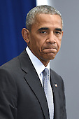 United States President Barack Obama holds a press conference about the recent bombing in the New York region at the Lotte New York Palace Hotel in New York, New York, on September 19, 2016. On the evening of September 17, 2016, a bomb placed in a dumpster exploded in lower Manhattan injuring at least 29 people. <br /> Credit: Anthony Behar / Pool via CNP