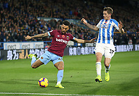 West Ham United's Ryan Fredericks and Huddersfield Town's Eric Durm<br /> <br /> Photographer Rob Newell/CameraSport<br /> <br /> The Premier League - Huddersfield Town v West Ham United - Saturday 10th November 2018 - John Smith's Stadium - Huddersfield<br /> <br /> World Copyright © 2018 CameraSport. All rights reserved. 43 Linden Ave. Countesthorpe. Leicester. England. LE8 5PG - Tel: +44 (0) 116 277 4147 - admin@camerasport.com - www.camerasport.com