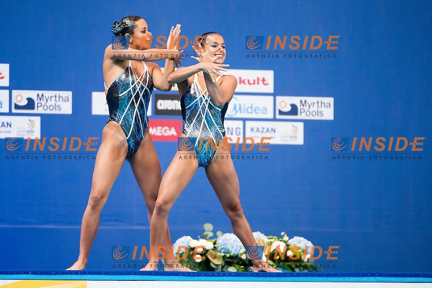 CALVO Fiorella JENKINS Natalia CRC<br /> Women's Duet Technical Preliminary Technical Routine - Kazan Arena<br /> Day03 25/07/2015<br /> XVI FINA World Championships Aquatics Swimming<br /> Kazan Tatarstan RUS July 24 - Aug. 9 2015 <br /> Photo A.Masini/Deepbluemedia/Insidefoto