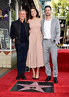HOLLYWOOD, CA - MARCH 25: Adam Shankman and Shane West with Mandy Moore at the Mandy Moore star ceremony on the Hollywood Walk of Fame on March 25, 2019 in Hollywood, California. (Photo by Frank Micelotta/20th Century Fox Television/PictureGroup)