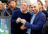 Anniversario omicidio del giornalista Giancarlo Siani trucidato dalla Camorra nel 1985<br /> nella foto Roberto Saviano  con Luigi Ciotti