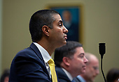 Chairman of the Federal Communications Commission Ajit Pai, joined by Commissioners at the Federal Communications Commission Michael O'Rielly, Brendan Carr, Jessica Rosenworcel, and Geoffrey Starks, testifies before the United States House Committee on Energy and Commerce at the United States Capitol in Washington D.C., U.S., on Thursday, December 5, 2019. <br /> <br /> Photographer: Stefani Reynolds/CNP