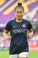 Orlando, FL - Saturday July 20, 2019:  Nahomi Kawasumi #09 during a regular season National Women's Soccer League (NWSL) match between the Orlando Pride and the Sky Blue FC at Exploria Stadium.
