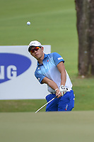 Keita NAKAJIMA (JPN) chips on to 16 during Rd 3 of the Asia-Pacific Amateur Championship, Sentosa Golf Club, Singapore. 10/6/2018.<br /> Picture: Golffile | Ken Murray<br /> <br /> <br /> All photo usage must carry mandatory copyright credit (© Golffile | Ken Murray)
