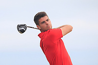 Devin Morley (Oughterard) on the 2nd tee during Round 3 of the East of Ireland Amateur Open Championship 2018 at Co. Louth Golf Club, Baltray, Co. Louth on Monday 4th June 2018.<br /> Picture:  Thos Caffrey / Golffile<br /> <br /> All photo usage must carry mandatory copyright credit (&copy; Golffile | Thos Caffrey)