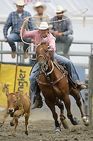 26 Aug 2010:  Nate Baldwin was not able to score a time in the slack Tie Down Roping competition at the Kitsap County Stampede Wrangle Million Dollar PRCA Silver Rodeo Tour Bremerton, Washington.