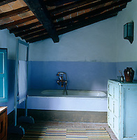 In the bathroom the colours have all been chosen to reflect the the surrounding countryside