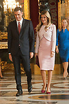 President Pedro Sanchez and Maria Begona Gomez attends to Sapnish National Day palace reception at the Royal Palace in Madrid, Spain. October 12, 2018. (ALTERPHOTOS/A. Perez Meca)