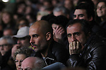 11.03.2015 Barcelona.UEFA champions League. Rounf 0f 16 2nd leg. Picture show Pep Guardiola and Manel Estiarte during game between FC Barcelona against Manchester city at Camp Nou
