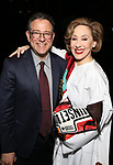 Michael Greif and Joanna Glushak during the Actors' Equity Gypsy Robe honoring Joanna Glushak for 'War Paint' at the Nederlander Theatre on April 6, 2017 in New York City