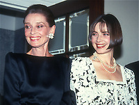 Audrey Hepburn Isabella Rossellini 1991<br /> Photo By John Barrett/PHOTOlink