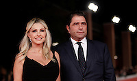 La conduttrice Paola Ferrari e il marito Marco De Benedetti posano sul red carpet del Festival Internazionale del Film di Roma, 16 ottobre 2015.<br /> Italian show host Paola Ferrari, left, and her husband Marco De Benedetti pose on the red carpet of the international Rome Film Festival at Rome's Auditorium, 16 October 2015.<br /> UPDATE IMAGES PRESS/Isabella Bonotto