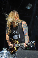 DERBYSHIRE, ENGLAND - AUGUST 12:  Rich Ward of 'Stuck Mojo' performing at Bloodstock Open Air Festival, Catton Park on August 12, 2016 in Derbyshire, England.<br /> CAP/MAR<br /> &copy;MAR/Capital Pictures /MediaPunch ***NORTH AND SOUTH AMERICAS ONLY***