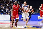 Real Madrid's Jaycee Carroll and Crvena Zvezda Mts Belgrade's Charles Jenkins during Turkish Airlines Euroleague match between Real Madrid and Crvena Zvezda Mts Belgrade at Wizink Center in Madrid, Spain. March 10, 2017. (ALTERPHOTOS/BorjaB.Hojas)