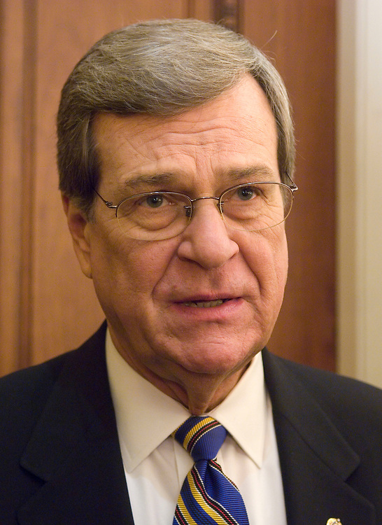 WASHINGTON, DC - Dec. 18: Retiring Senate Minority Whip Trent Lott, R-Miss., talks to reporters after the Senate Republican policy luncheon. (Photo by Scott J. Ferrell/Congressional Quarterly).