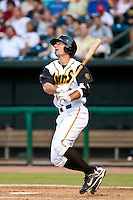Jason Delaney of the  Jacksonville Suns during a game vs. the Tennessee Smokies July 10 2010 at Baseball Grounds of Jacksonville in Jacksonville, Florida. Photo By Scott Jontes/Four Seam Images