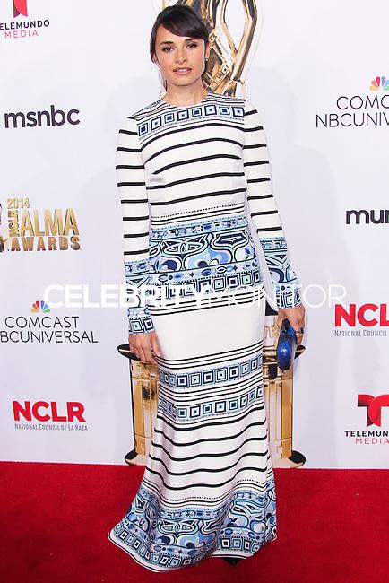 PASADENA, CA, USA - OCTOBER 10: Mia Maestro arrives at the 2014 NCLR ALMA Awards held at the Pasadena Civic Auditorium on October 10, 2014 in Pasadena, California, United States. (Photo by Celebrity Monitor)