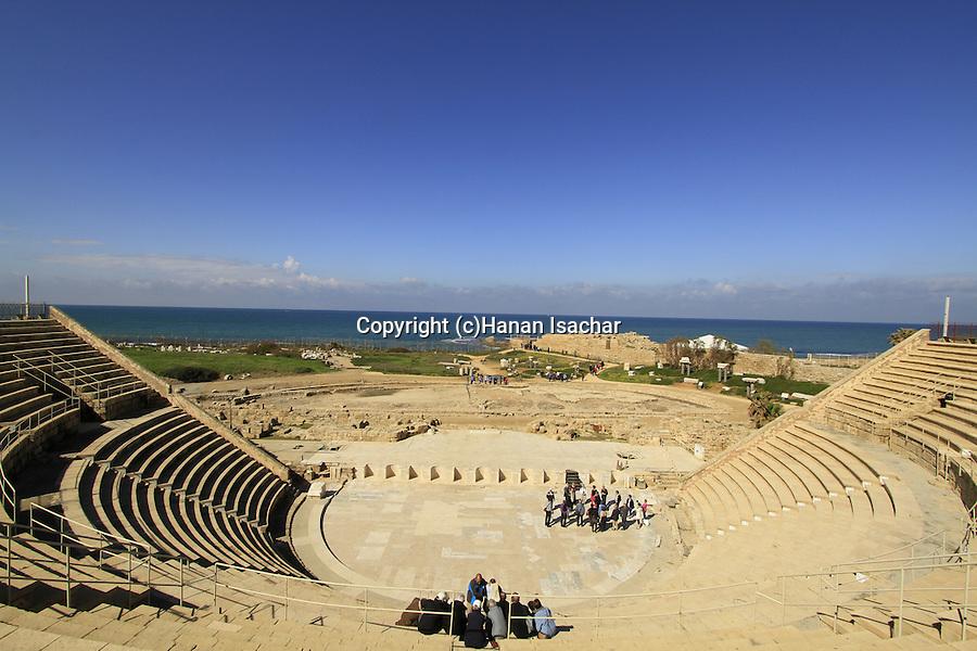 King Herod's theater, built between 22-10 BC, in Caesarea National Park on Israel's central Mediterranean coast