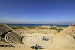 King Herod's theater, built between 22-10 BC, in Caesarea National Park on Israel's central Mediterranean coast