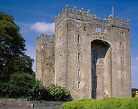 County Clare, Ireland<br /> Bunratty Castle, a restored 15th century castle
