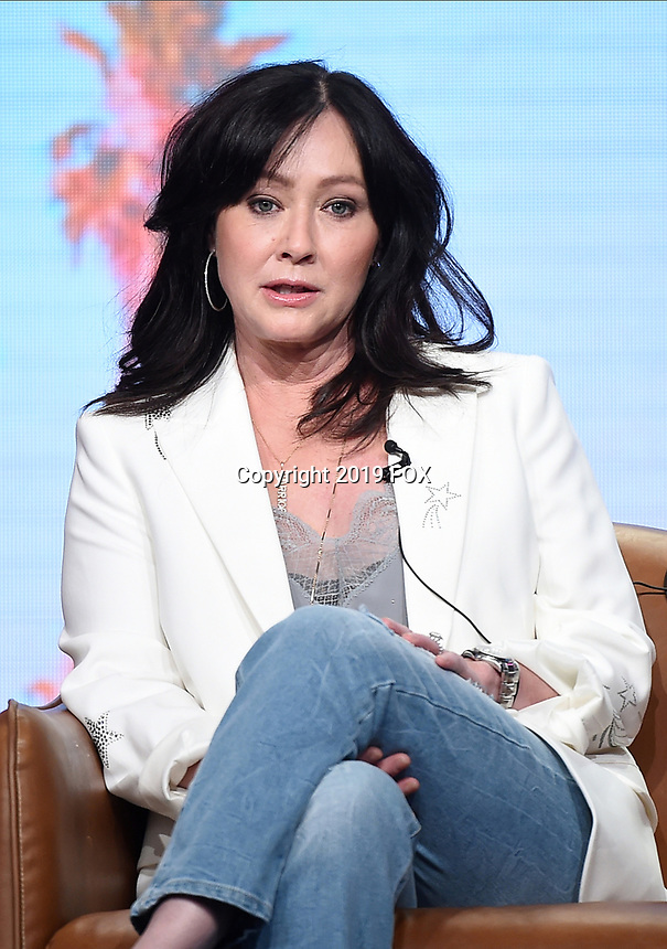 2019 FOX SUMMER TCA: Shannen Doherty during the BH90210 panel at the 2019 FOX SUMMER TCA at the Beverly Hilton Hotel, Wednesday, Aug. 7 in Beverly Hills, CA. CR: Frank Micelotta/FOX/PictureGroup